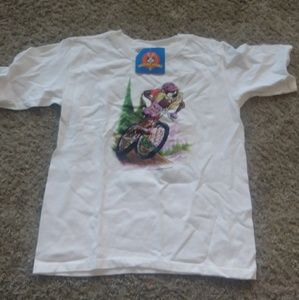 Anvil Shirts & Tops - NY 1990s Looney Tunes Taz Mountain Biking T-shirt